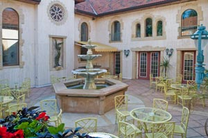 Enjoy a drink by the fountain in our courtyard. - Also a great place for a picture opportunity!